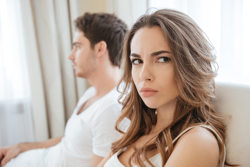 Angry Couple Intimacy Problems Relationship