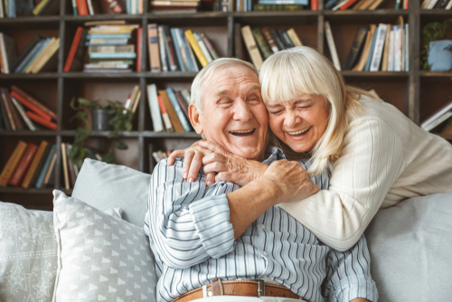 Couple Smiling Relationship Coach